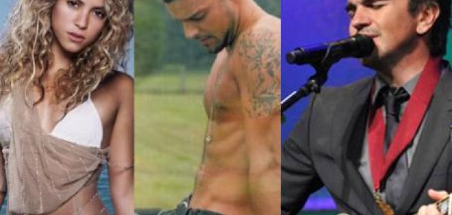 Shakira, Juanes y Ricky Martin son elegidos como artistas del año