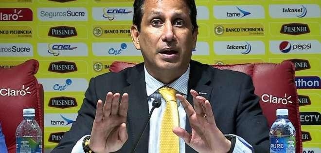 El presidente de Barcelona Sporting Club reconoció que siempre hay temas pendientes. Foto: Archivo