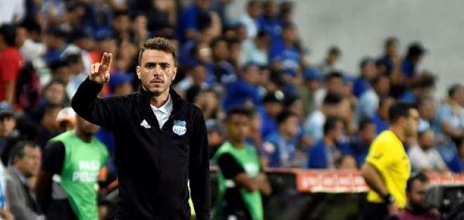 El entrenador de Emelec aseguró que vio una evolución en su equipo. Foto: ARIEL OCHOA / AFP