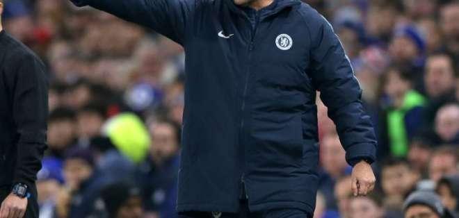 El entrenador de Chelsea, Maurizio Sarri, dijo que hará lo mejor para el grupo. Foto: Daniel LEAL-OLIVAS / AFP