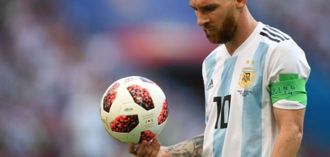 Messi, máxima figura de Argentina.