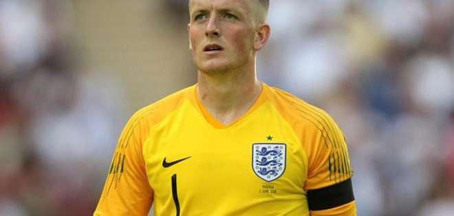 Jordan Pickford, arquero titular de Inglaterra.