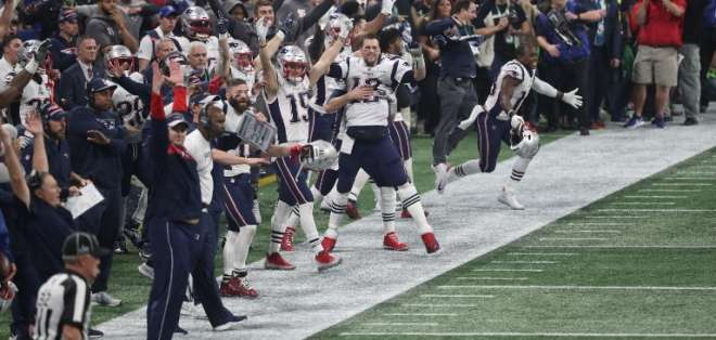 Los Patriots vencieron 13-3 a Los Angeles Rams en el Mercedes-Benz Arena de Atlanta. Foto: STREETER LECKA / GETTY IMAGES NORTH AMERICA / AFP
