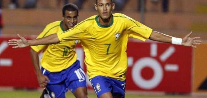 Neymar, brilló en las juveniles de Brasil.