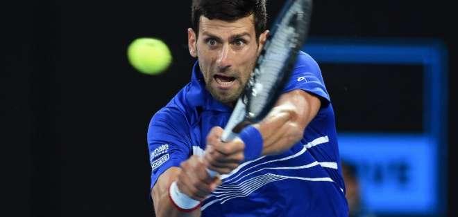 El serbio clasificó tras vencer a Kei Nishikori, quien se retiró. Foto: Greg Wood / AFP