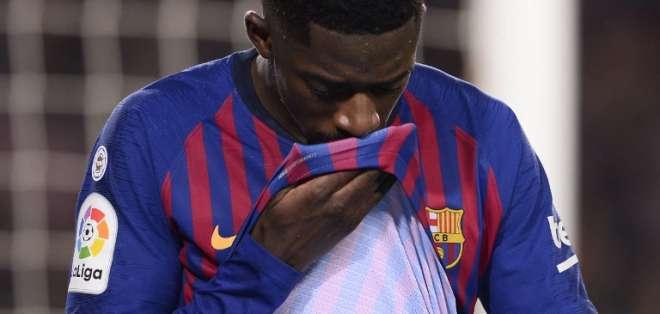 El jugador francés salió lesionado del encuentro entre el FC Barcelona y Leganés. Foto: Josep LAGO / AFP