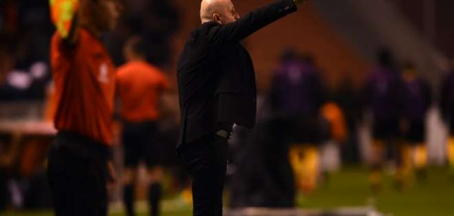 El entrenador de Liga de Quito aseguró que la diferencia pudo ser mayor. Foto: Rodrigo BUENDIA / AFP
