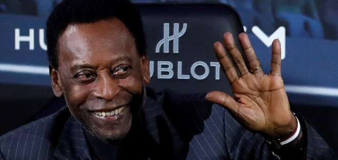Pelé, figura del fútbol mundial.