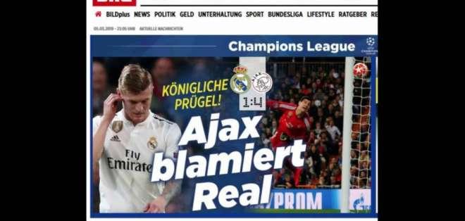 Los diarios deportivos más importantes abrieron sus portadas con la eliminación 'merengue'. Foto: JAVIER SORIANO / AFP