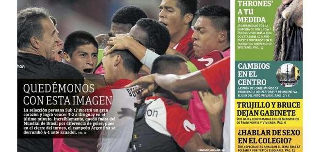Portada de edición impresa de Publimetro Perú. Foto: Captura de pantalla