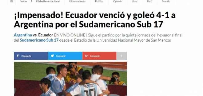 Portada web del medio Perú 21. Foto: Captura de pantalla