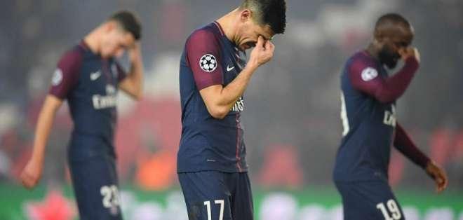Jugadores del PSG lamentan la eliminación