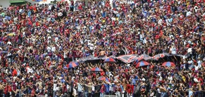 Hinchas de Deportivo Quito.
