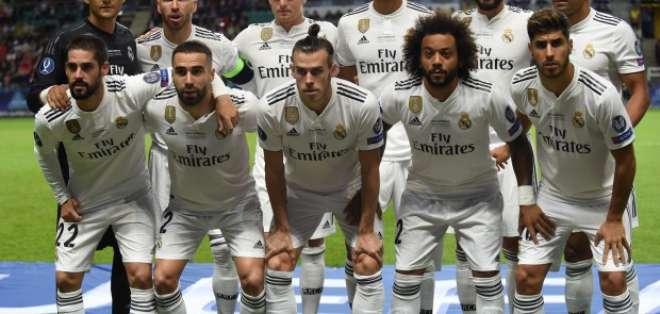 Jugadores del Real Madrid, previo a un duelo.