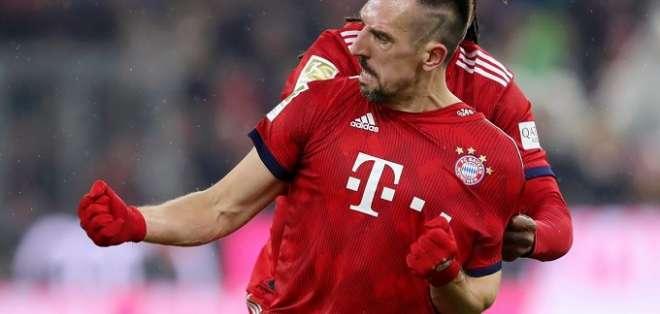 Gracias a un gol del francés Franck Ribery en el tramo final del partido (minuto 83)