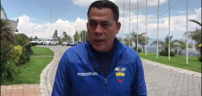 Javier Rodríguez, entrenador ecuatoriano.