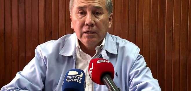 Tito Manjarrez, directivo de El Nacional.