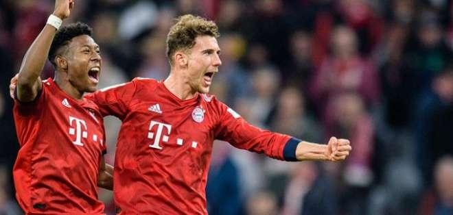 Celebración de uno de los tantos del Bayern.