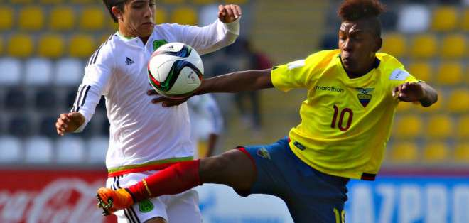 Yeison Guerrero con la camiseta de Ecuador en el Mundial sub 17.