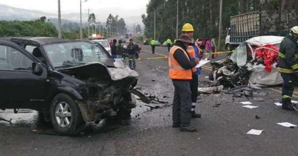 Una mujer fallecida tras accidente en Machachi