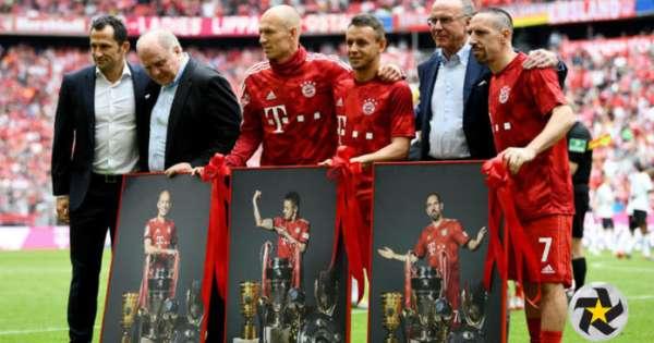 Robben y Ribery se despiden del Bayern Munich con título y goles