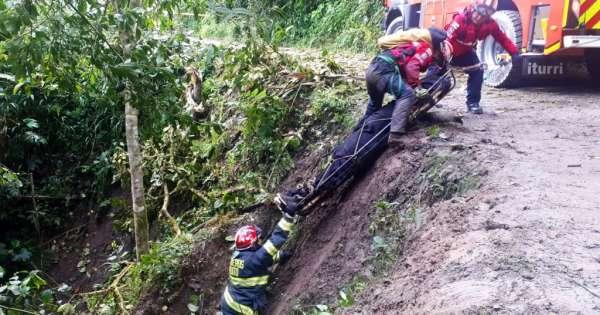 Tres heridos deja accidente en Tandayapa, noroccidente de Quito