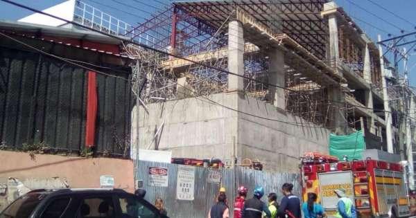 4 heridos tras colapso de construcción en Quito