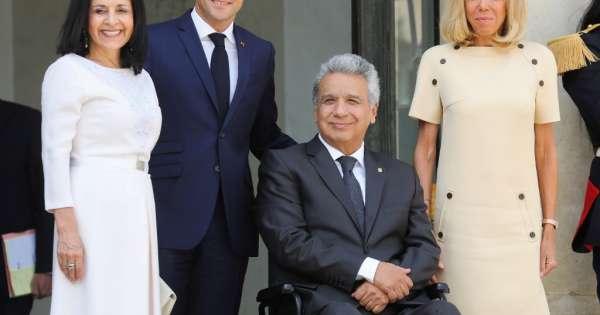 Macron y Moreno se reúnen por relaciones económicas