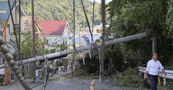 Tifón dejá sin electricidad a más de 15.000 hogares en Japón