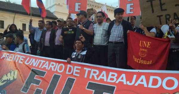 FUT y Frente Popular piden que se archive Ley de Crecimiento Económico