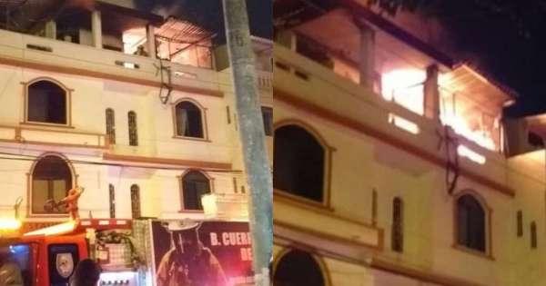 Edificio de 3 pisos consumido por incendio en Guayaquil - Ecuavisa