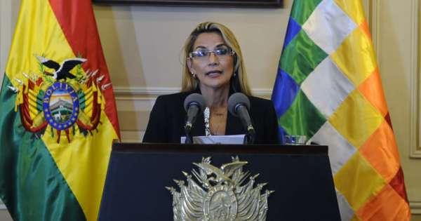 Presidenta de Bolivia pide al Congreso aprobar ley para elecciones