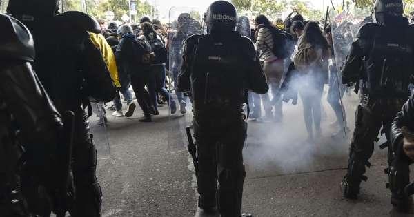 Multitudinarias protestas contra el gobierno de Duque en Colombia