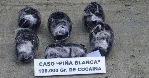 Incautan 200 'piñas' con cocaína en puerto de Guayaquil
