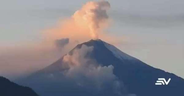 El proceso eruptivo del volcán Sangay cumple 221 días