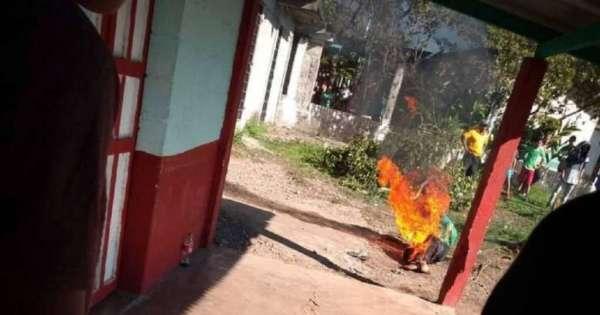 Queman vivo a presunto violador y asesino de una menor en México