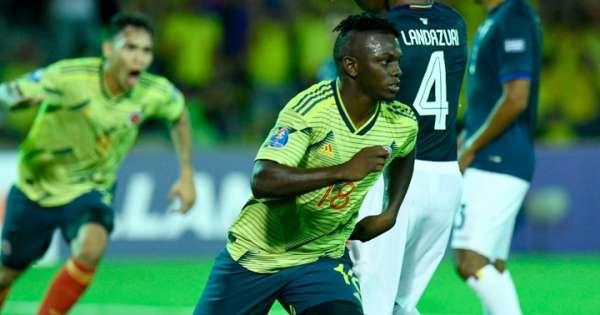 Colombia golea 4-0 a Ecuador en el Sub-23