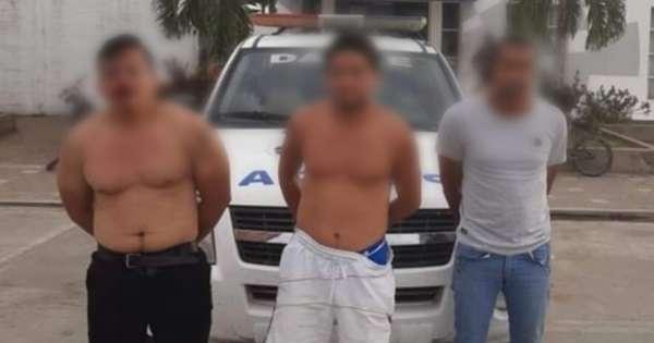 Prisión preventiva a 3 sujetos que agredieron a policías en Nobol
