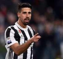 Sami Khedira será baja en la Juventus.