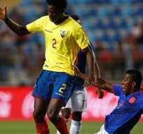 Jackson Porozo disputando el Sudamericano Sub 20.