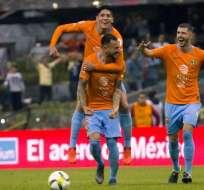 Las 'Águilas' golearon 4-0 a los Xolos de Tijuana. Foto: ROCIO VAZQUEZ / AFP