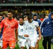 Argentina luego de la victoria ante Marruecos.