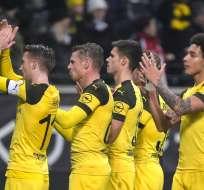 El Borussia empató con el Eintracht, mientras que el Munich cayó ante el Leverkusen. Foto: SILAS STEIN / DPA / AFP