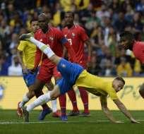 La 'verdeamarela', que no contó con Neymar,  quedó 1-1 con el elenco centroamericano. Foto: MIGUEL RIOPA / AFP