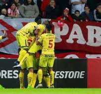 Jugadores de BSC, celebrando un gol.