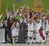 El elenco catarí venció 3-1 en la final a Japón. Foto: Khaled DESOUKI / AFP
