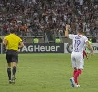 Cerro celebra su gol ante Atlético Mineiro.