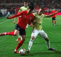 El equipo asiático superó 2-1 al sudamericano que tenía 8 partidos sin perder. Foto: JUNG Yeon-Je / AFP