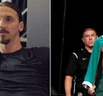 Zlatan (izquierda), Conor McGregor (derecha).