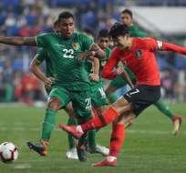 Seung-woo Lee marcó el único gol del partido disputado en el estadio Munsu. Foto: STR / YONHAP / AFP